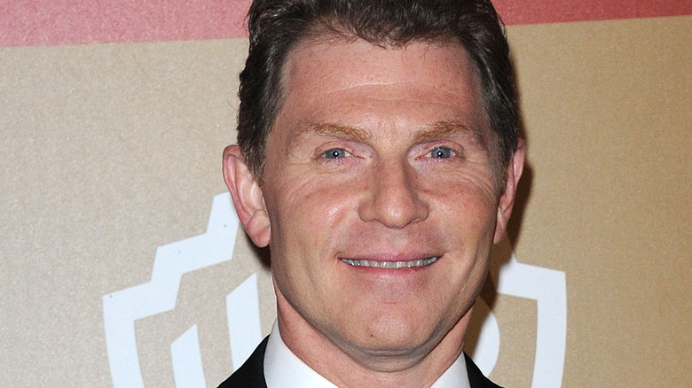 Closeup of Bobby Flay in suit