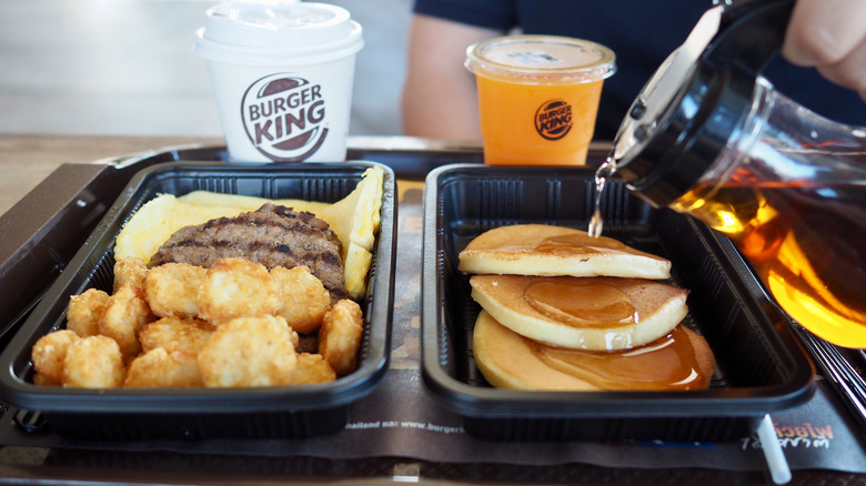 Burger King breakfast meal in Bangkok