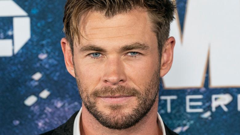 Chris Hemsworth on red carpet