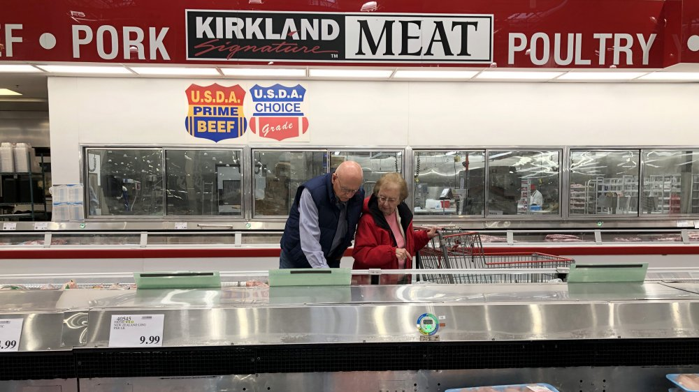 Meat freezer at a California Costco