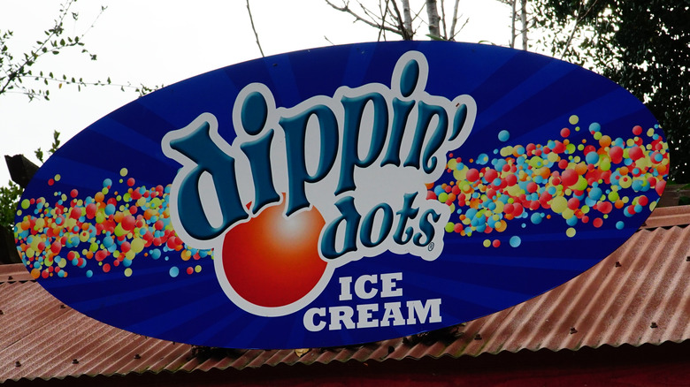 Dippin' Dots ice cream shop sign