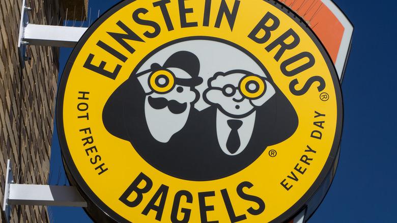 Einstein Bros. Bagels sign