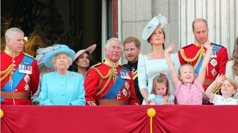 Royal family Trooping the Colour Celebration