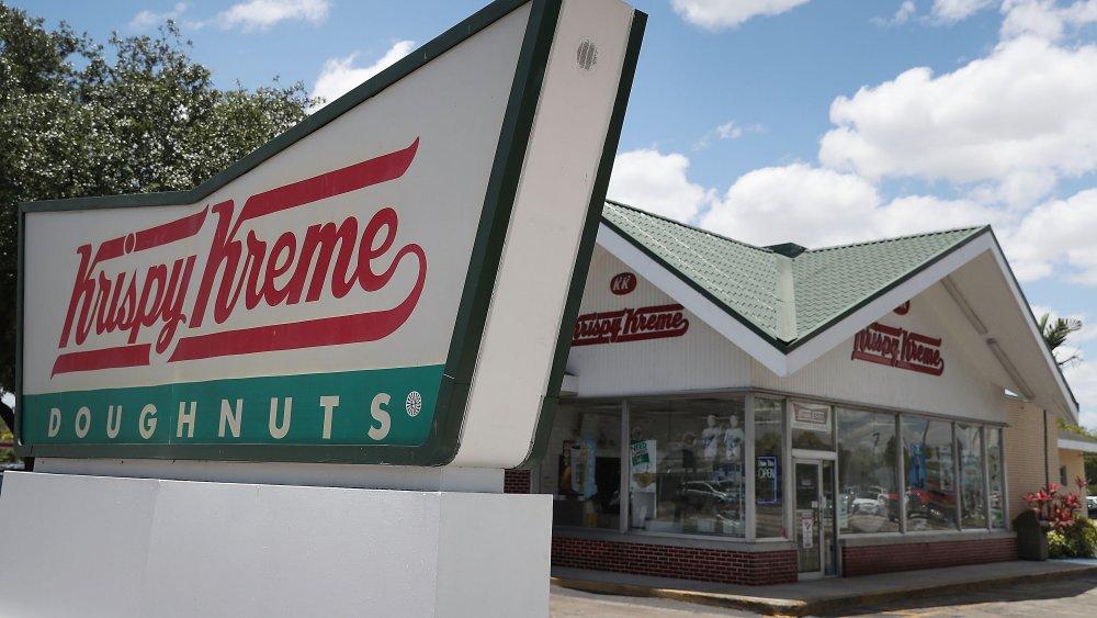 Krispy Kreme store and sign