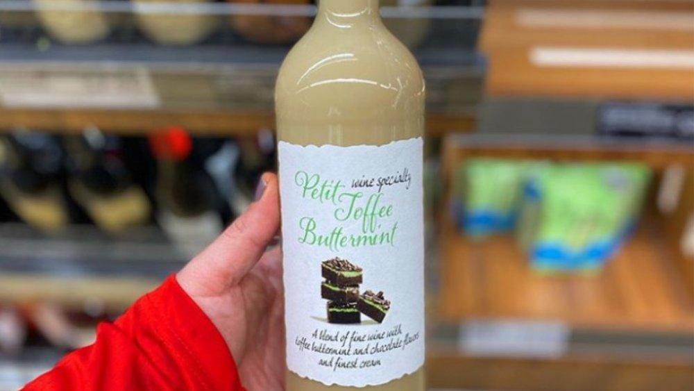 Aldi's toffee mint wine