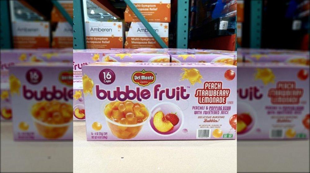 box of Del Monte's new bubble fruit cups