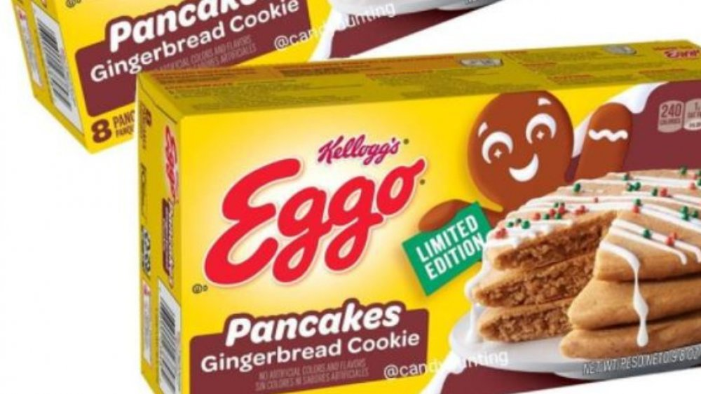 Eggo gingerbread cookie pancakes