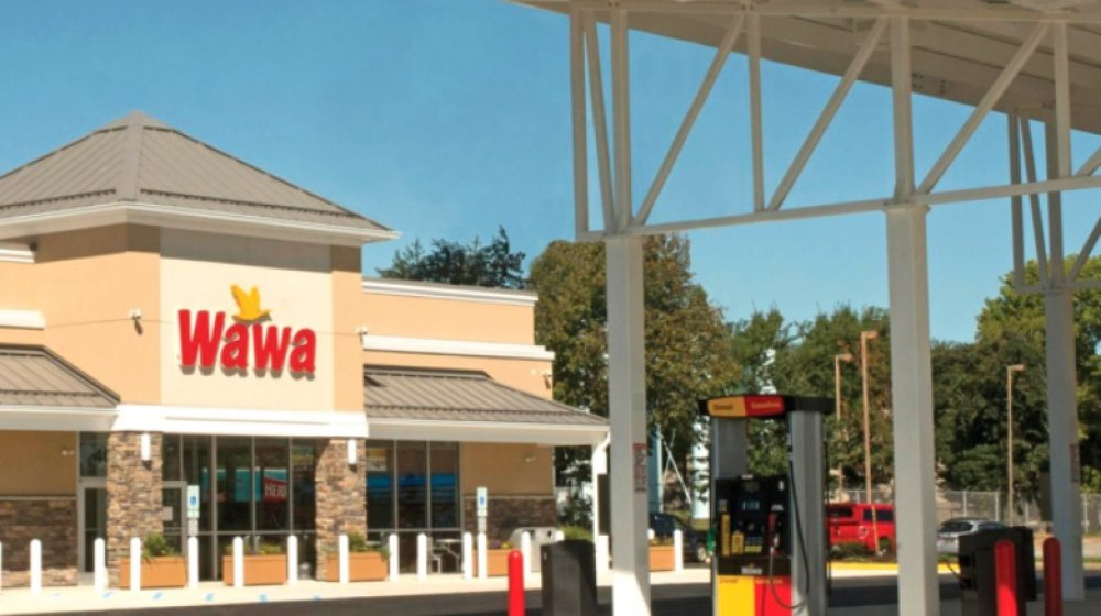 front of a Wawa gas station