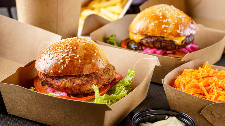 Various fast food meat products