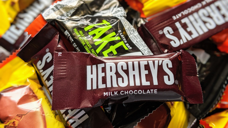 Hershey candy bars mixed