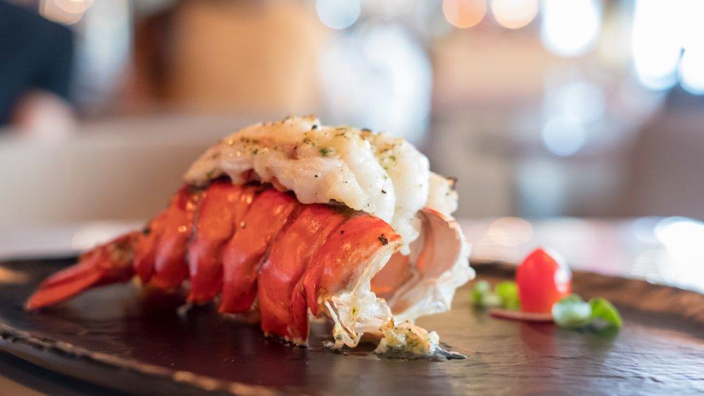 prepared lobster tail
