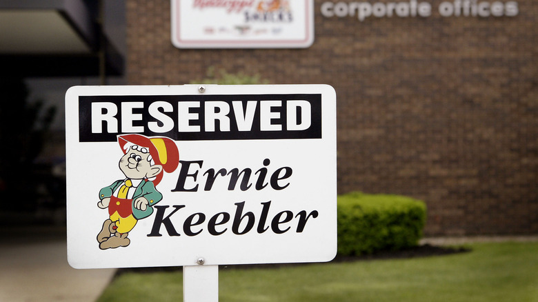 Keebler parking sign at Kellog's corporate office
