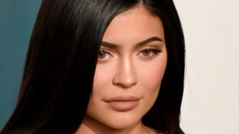 Kylie Jenner with straightened hair