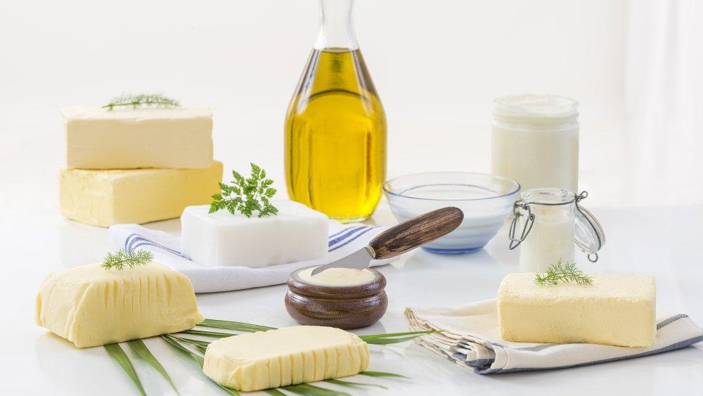 Lard, butter, and fats