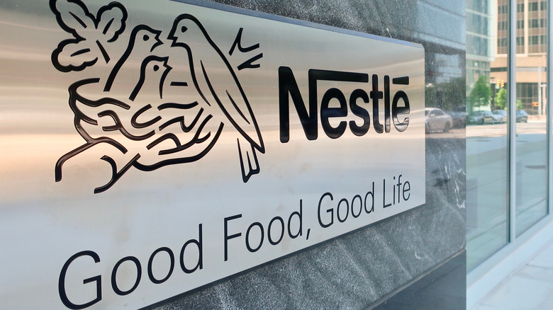 Good Food Good Life Nestle sign outside