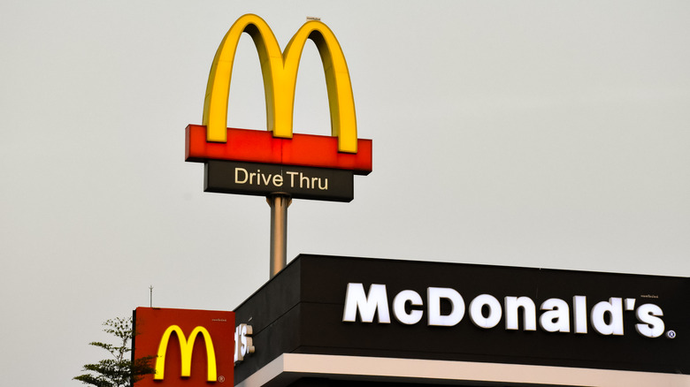 McDonald's signs on a restaurant