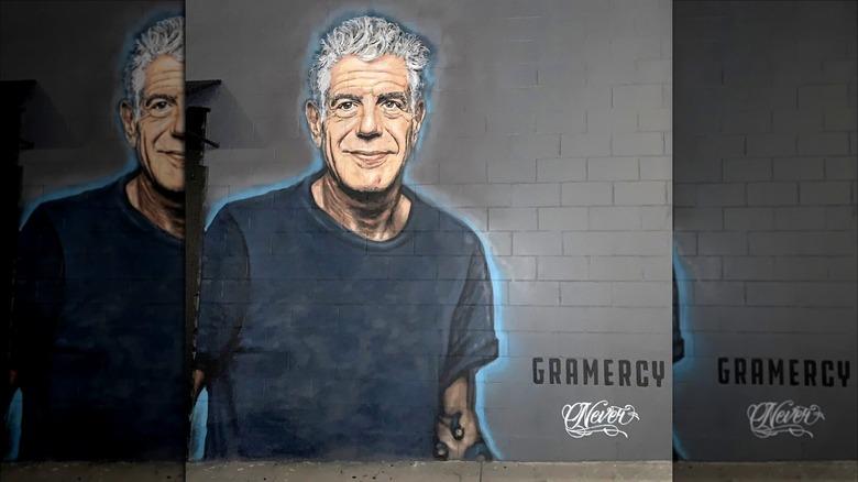 Anthony Bourdain mural