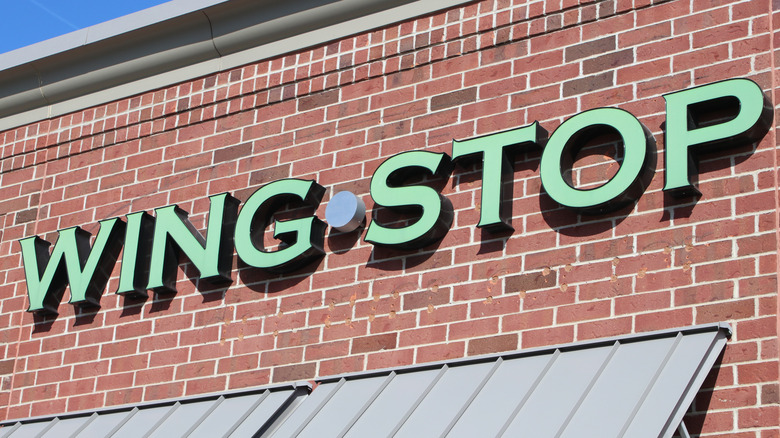 Wingstop location exterior sign
