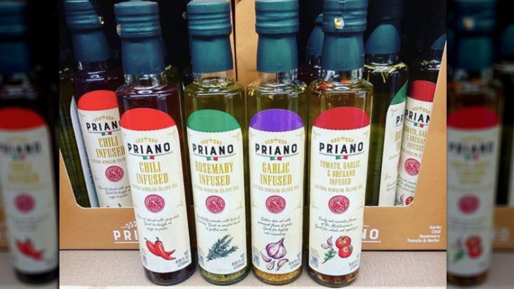bottles of Aldi's infused olive oil
