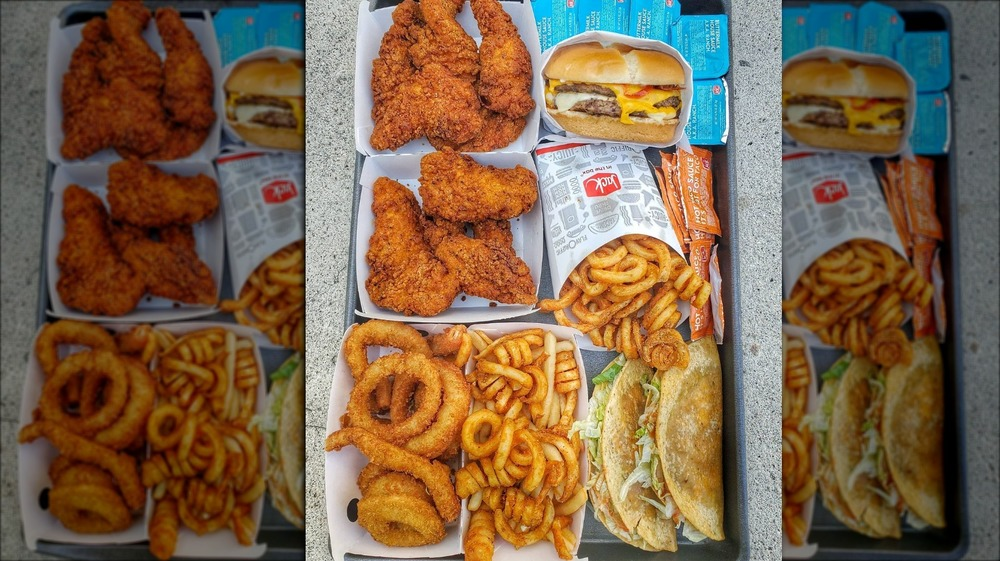 Fries, a burger, chicken tenders, and more from Jack in the Box