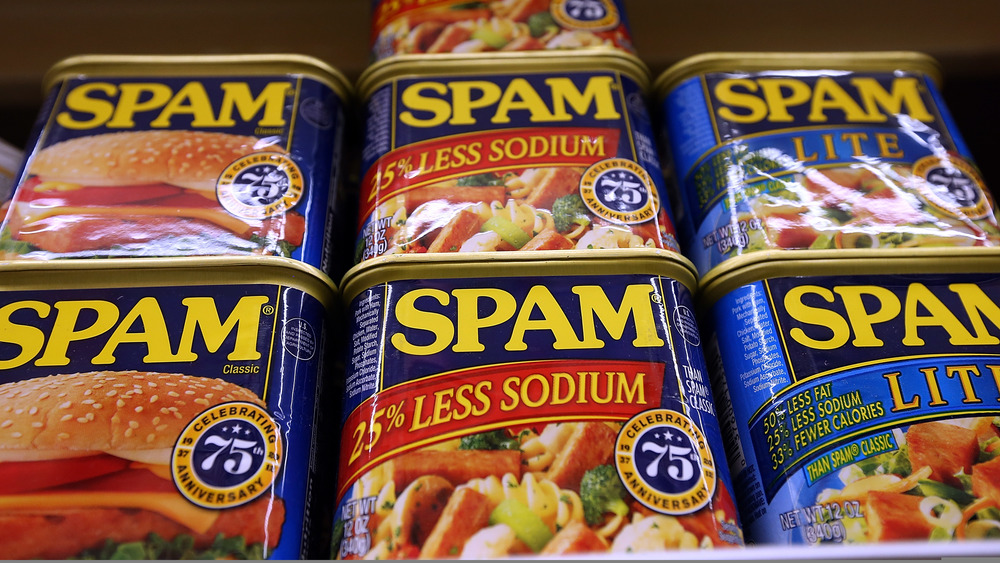 Spam on shelf