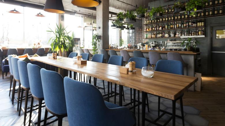Modern/bar restaurant interior