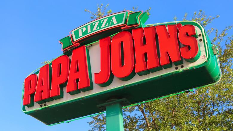 Papa John's sign exterior