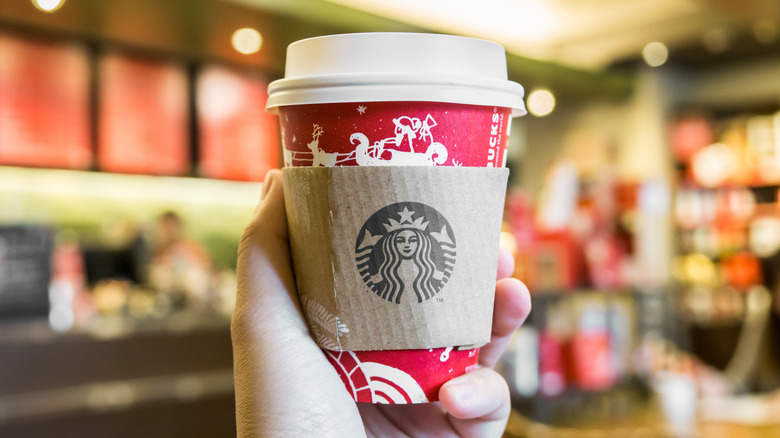 Starbucks holiday cup in store