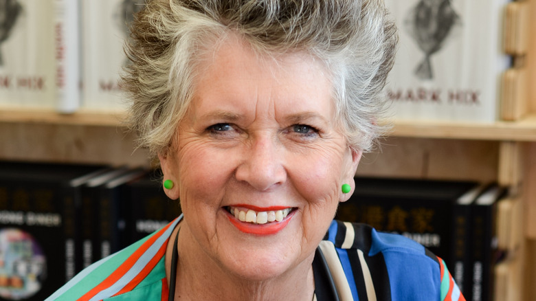 Prue Leith, one of the judges of the great british baking show