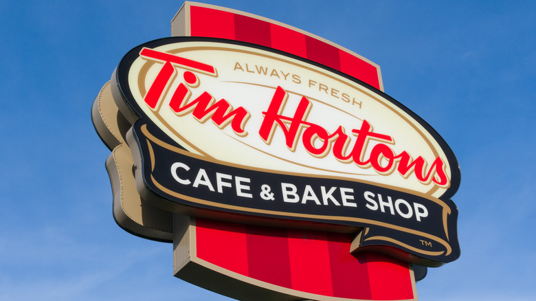 Tim Horton's outdoor sign