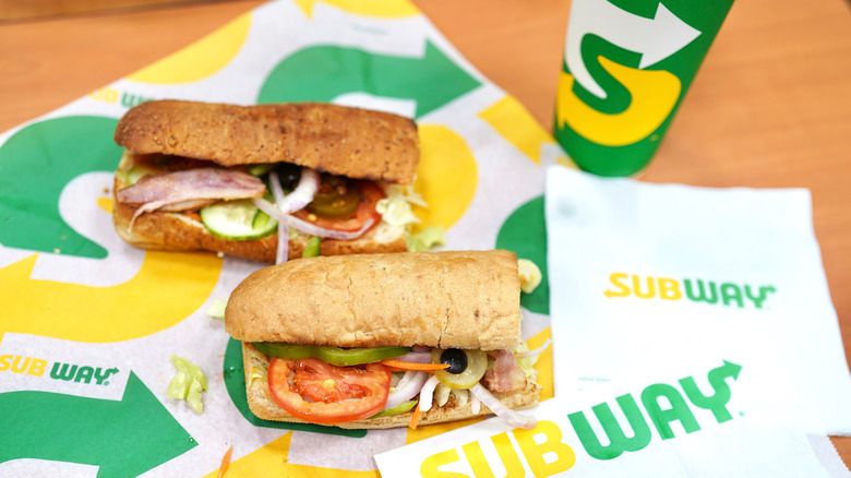 Subway Sandwiches on wrapper