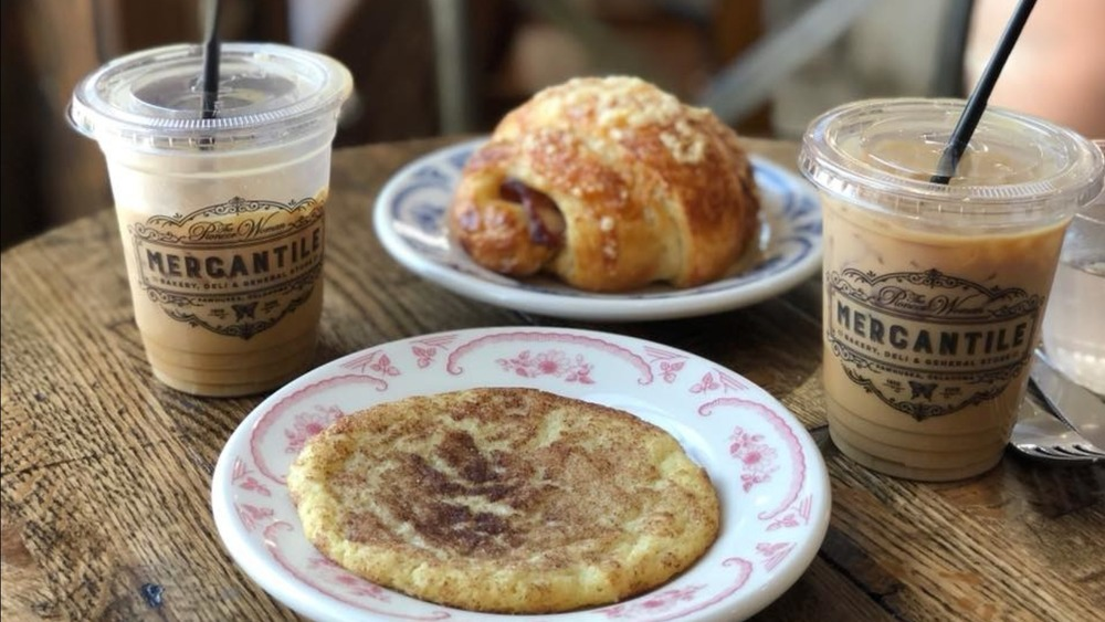 Mercantile coffee, pastry, and cookie