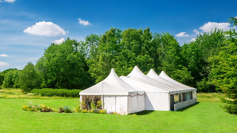 The Great British Baking Show tent