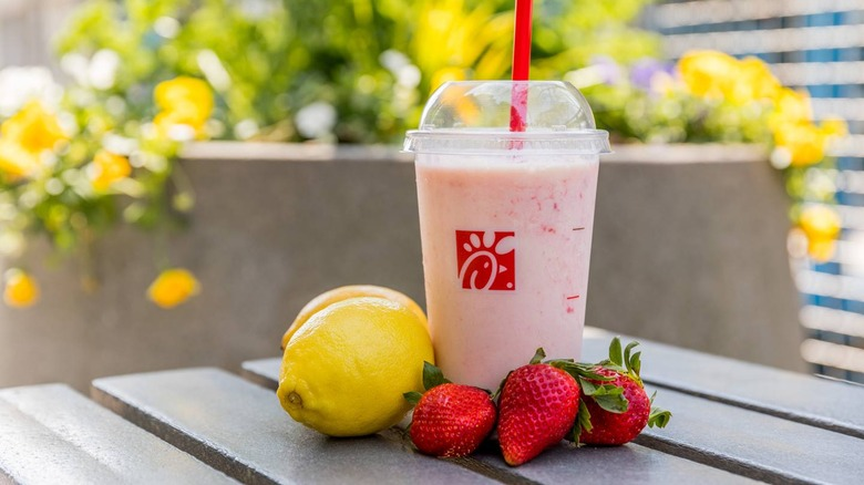 Chik-fil-A frosted strawberry lemonade