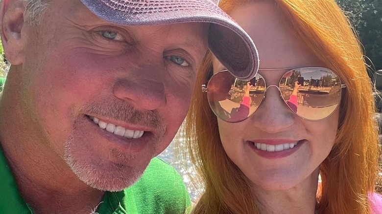 Ree Drummond wearing aviators on vacation with Ladd