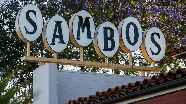 Sambo's restaurant sign