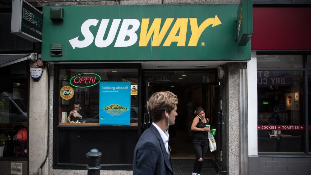 Subway storefront in the UK
