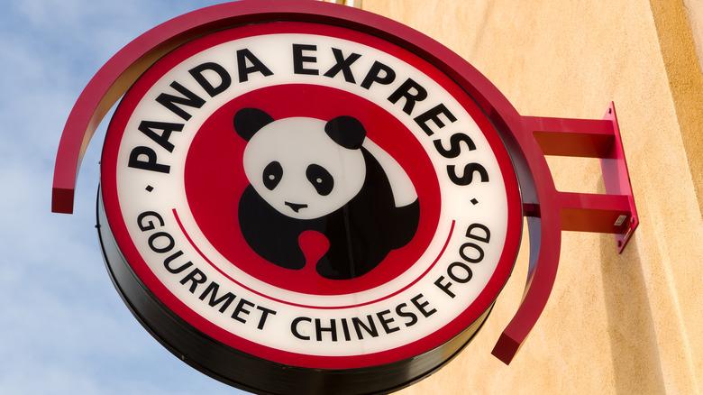 A Panda Express sign board