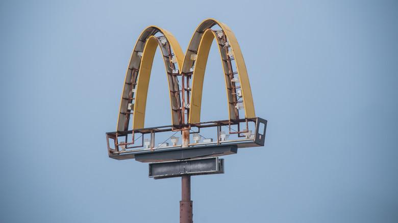 Broken McDonald's sign