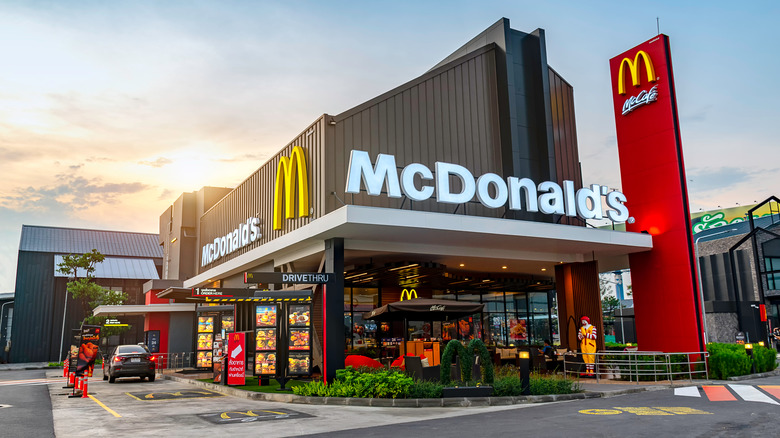 A McDonald's at evening