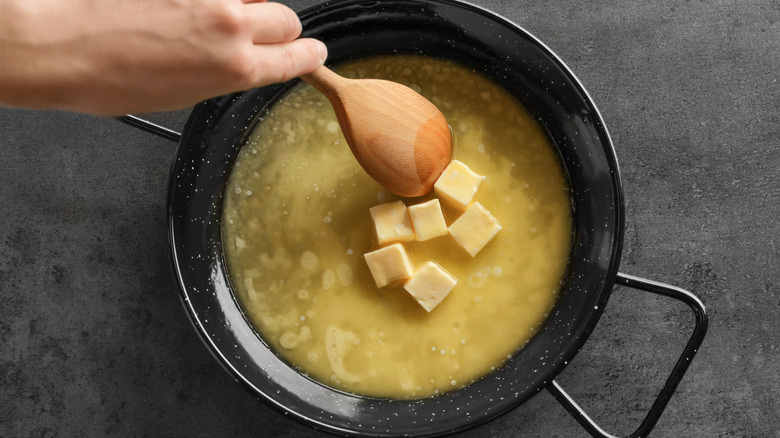 Browning butter on stovetop