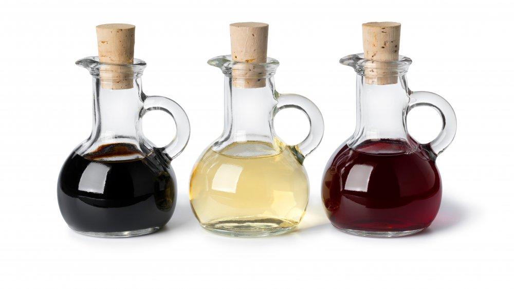 Three different vinegars