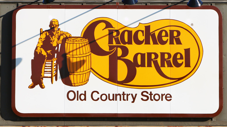 Yellow and brown Cracker Barrel logo