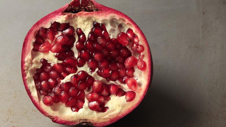 Interior of pomegranate