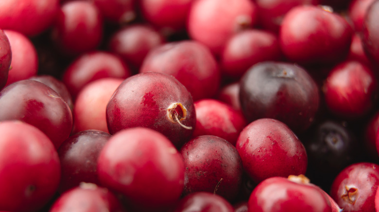 Cranberries in a pile