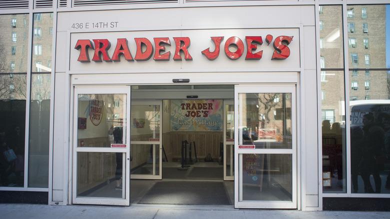 Trader Joe's store front with open doors