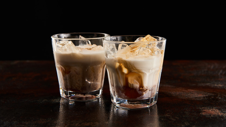 White Russian cocktails