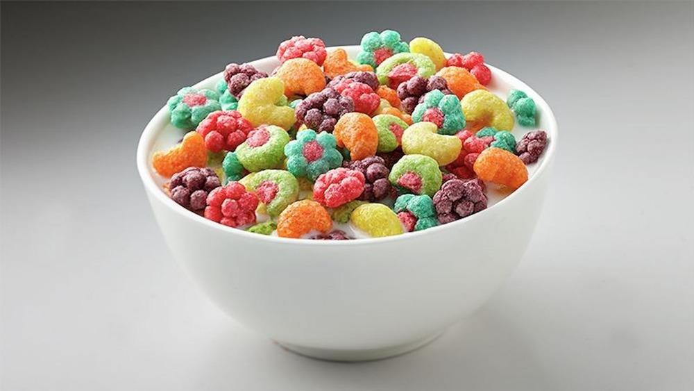 Bowl of Trix cereal