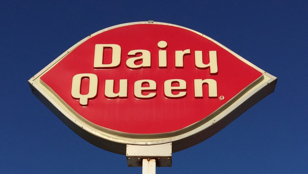 A Dairy Queen sign