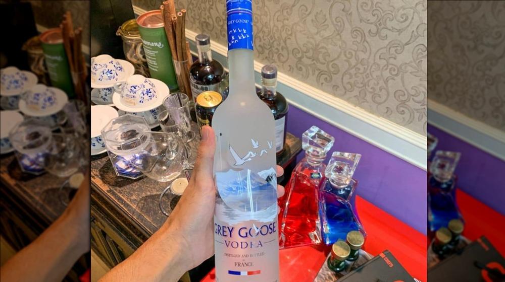 A bottle of Grey Goose